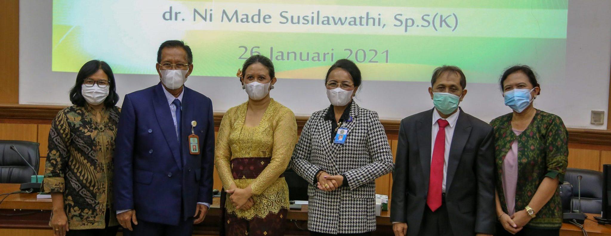 Ujian Terbuka Program Doktor dr. Ni Made Susilawathi, Sp.S(K)
